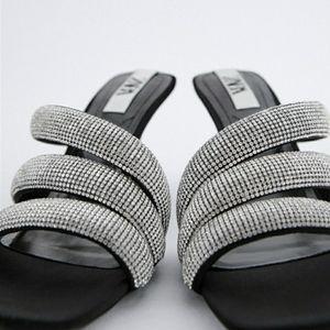 Zara Strappy Sparkly Heels. NWT. Size 8M.